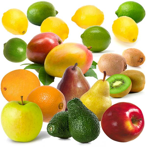 Organic Mountain Farm gift Crate of 6 Organic Fruits