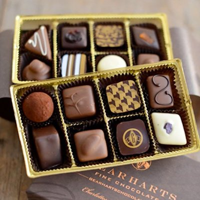 Gourmet Gift Box of Chocolates  Available on Amazon - Gearharts Assorted Chocolates