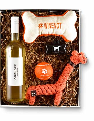 Pinot for Paws Wine Gift Box, $59