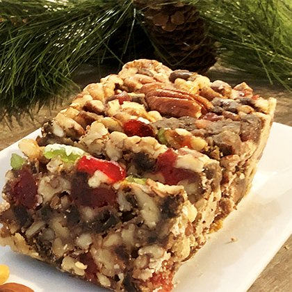 Fruitcake with Walnuts, Pecans, Cherries and Dates
