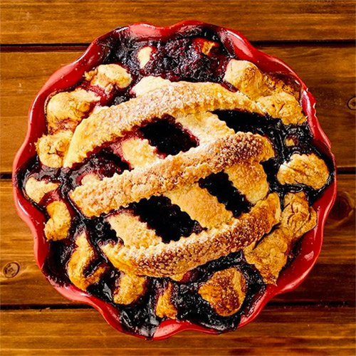 Old Fashioned Blueberry Pie with Lattice Crust