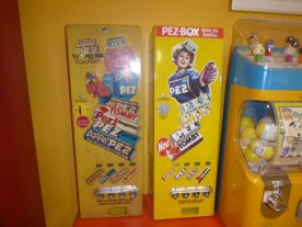 PEZ dispenser metal candy manchines