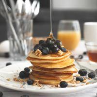 Pancakes saludables de avena y plátano