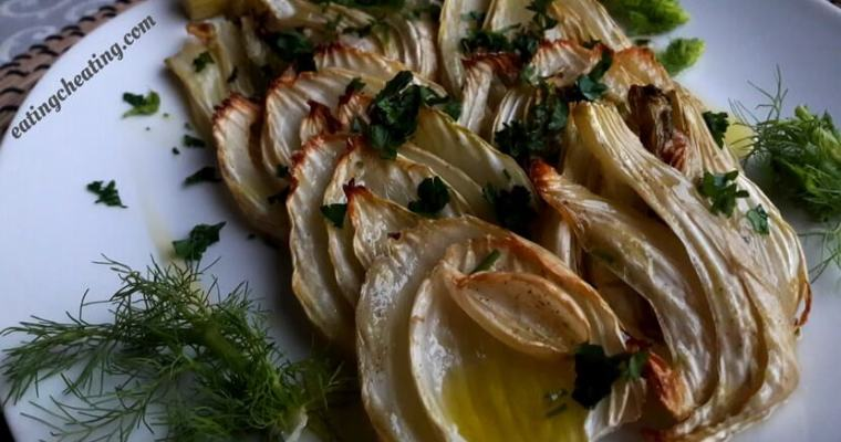 Oven roasted fennel