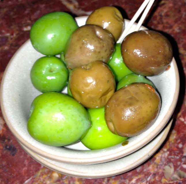 Huge juicy olives to start off