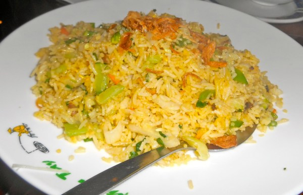 Perfectly cooked fried rice with vegetables