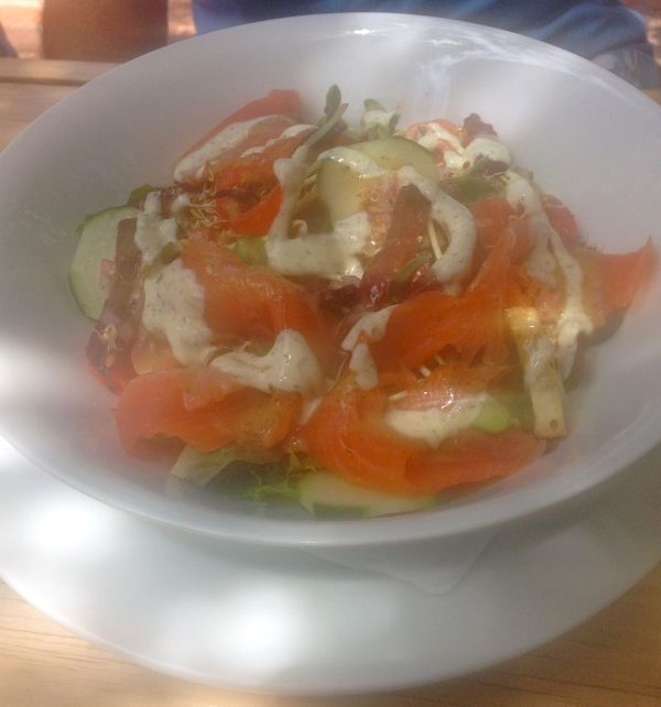 salmon trout salad