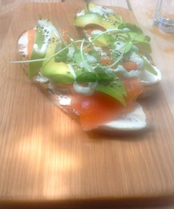 salmontrout sandwich