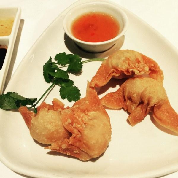Plump and crispy prawn dumplings