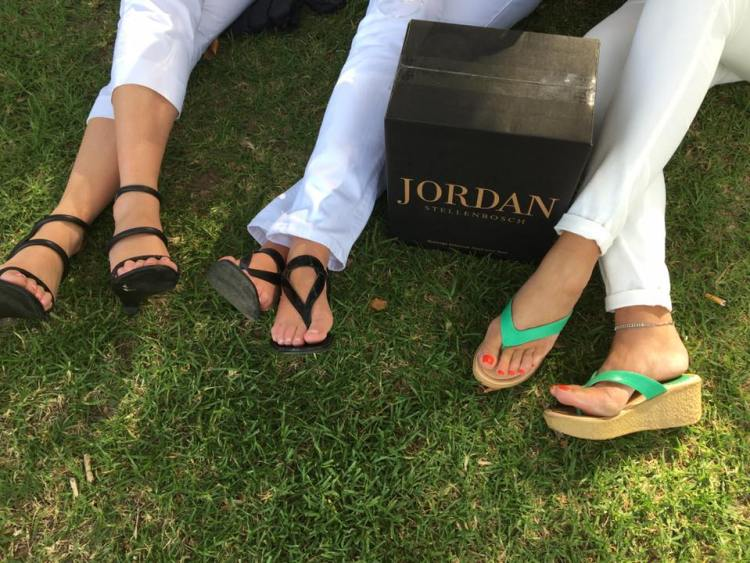 Happiness is summer feet and a case of Jordan Chardonnay