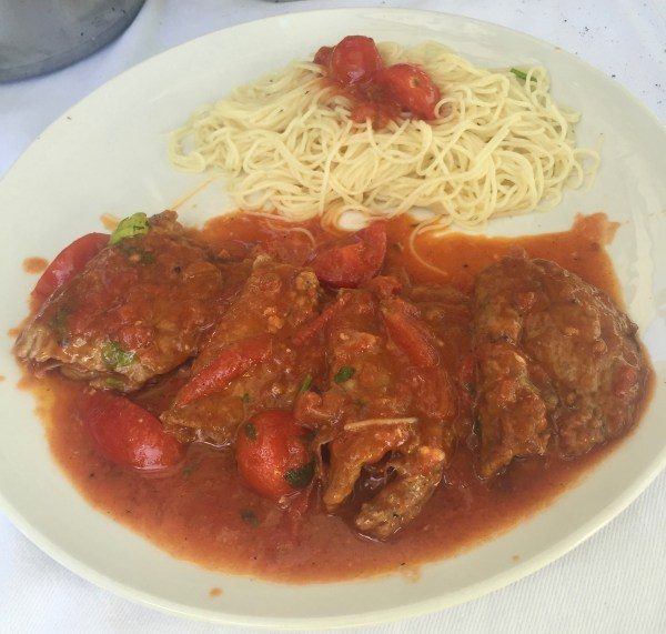 Cheesy, tomatoey veal that melts in the mouth