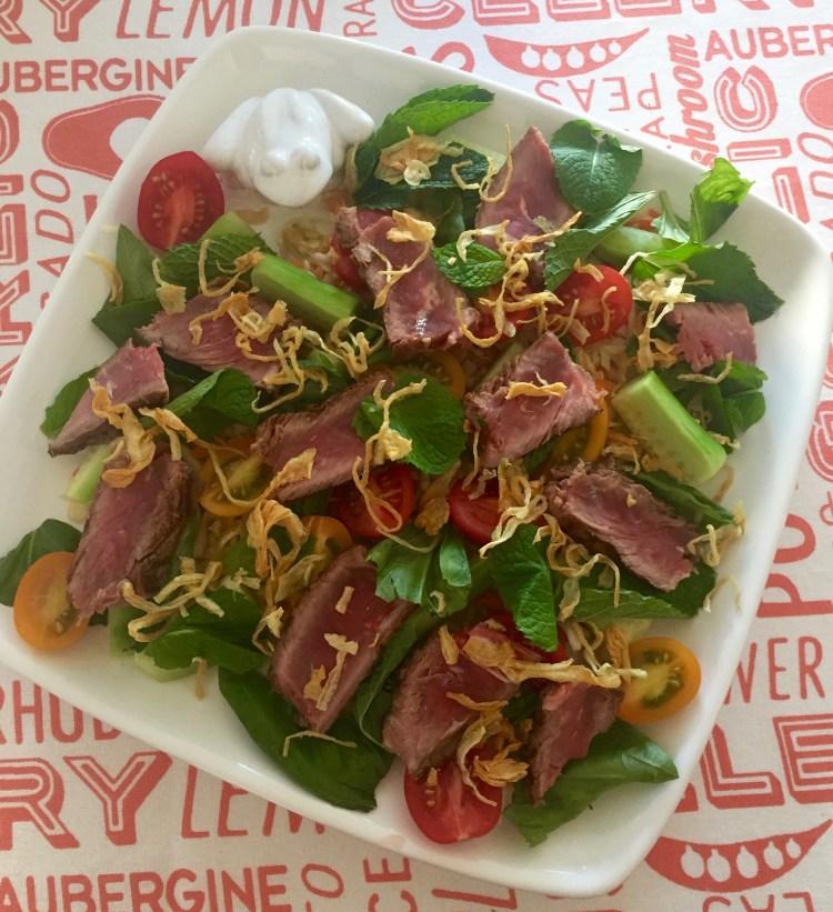 Recipe for Vietnamese beef salad