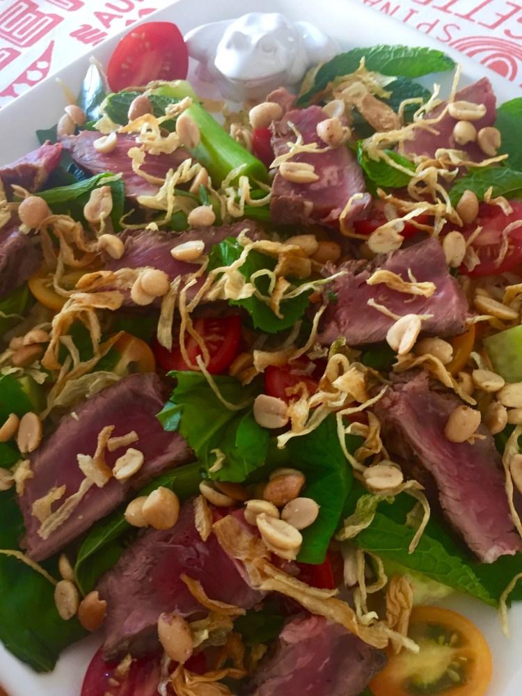 Delicious beef salad recipe