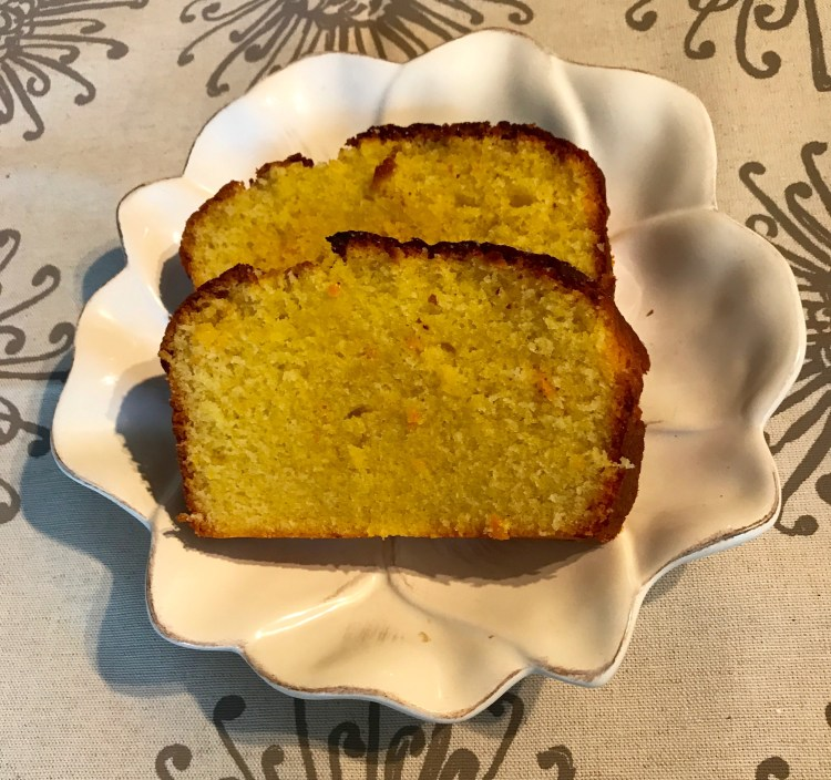 Recipe: Orange and lemon polenta cake