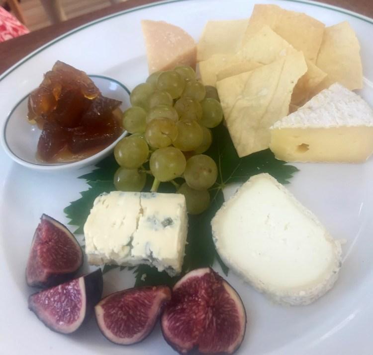 Klein Constantia: cheese plate