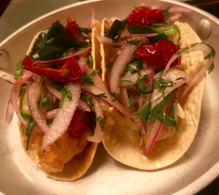 Thali: fish tacos