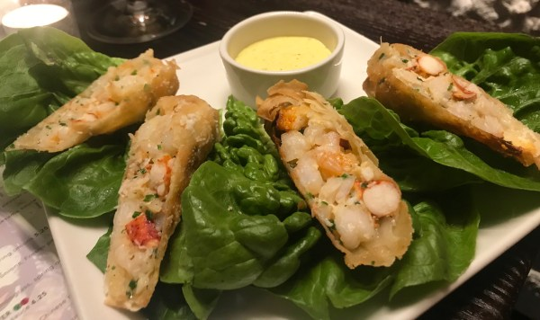 PF Changs: Lobster and shrimp spring roll