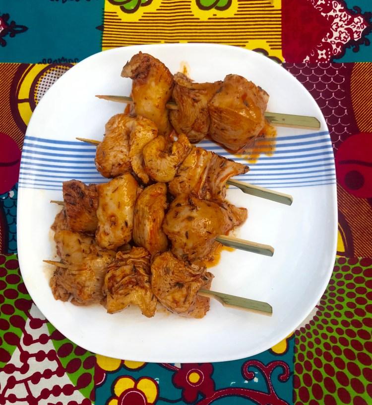 Chicken: kebabs