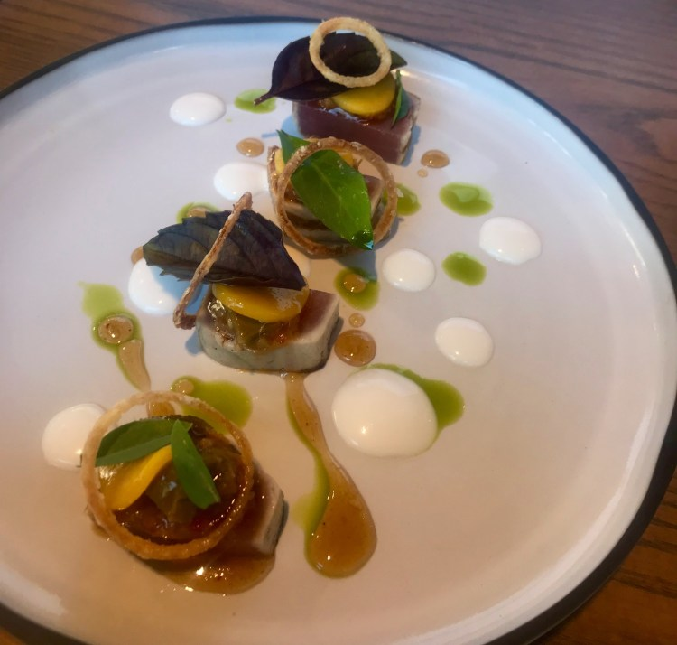 Beau Constantia: seared tuna