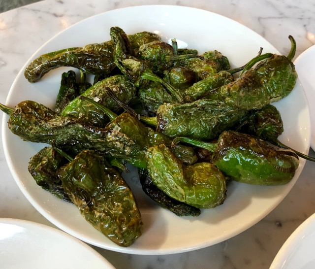Vermuteria: padron peppers