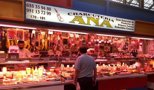 Malaga: meat in market