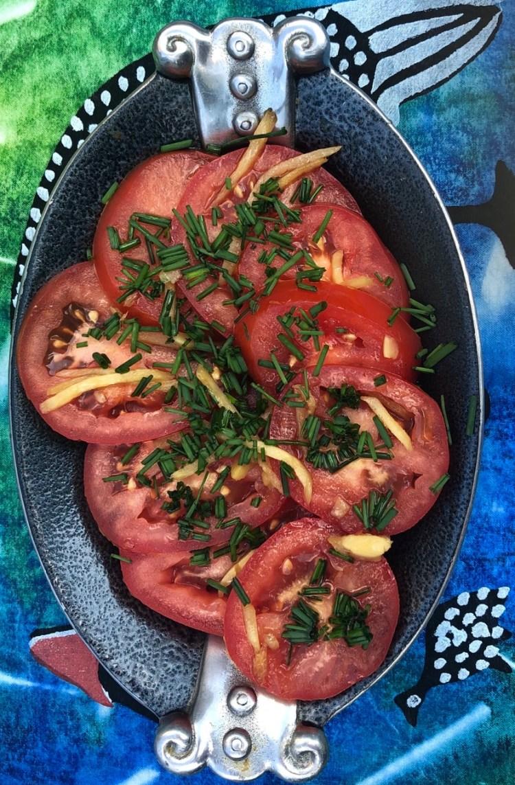Set a Table: tomato salada