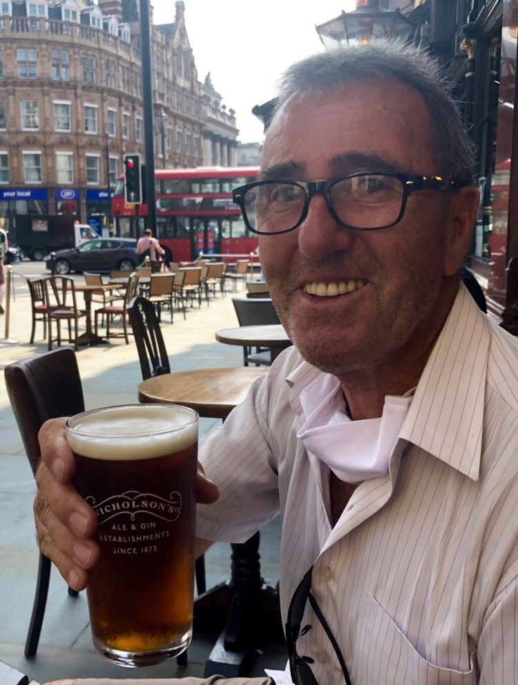 The Ivy Market Grill: pint of beer