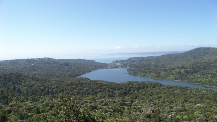 View from the Arataki Visitor's Centre