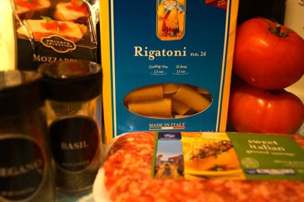 Sausage Rigatoni Ingredients