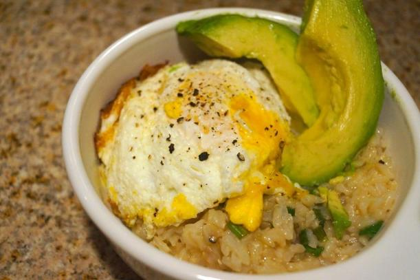 Rice Bowl with Avocado and Fried Egg