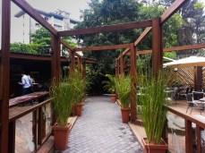Outside eating area
