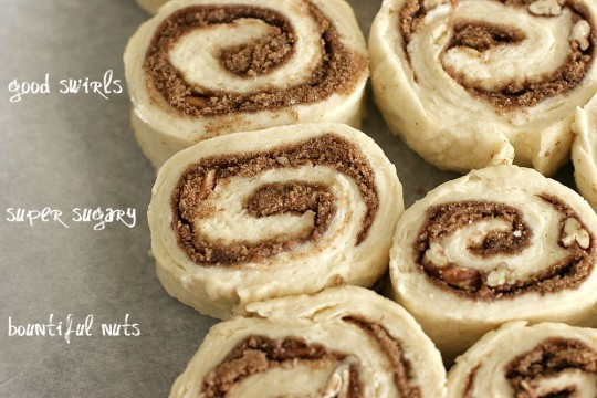 cinnamon roll biscuits rolling