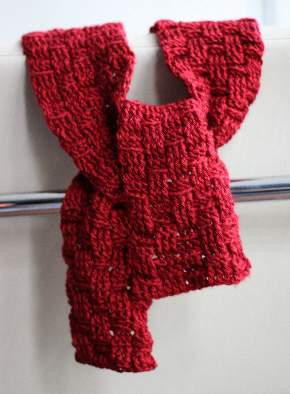Basket Weave Crochet Scarf Unisex Eating Out Loud