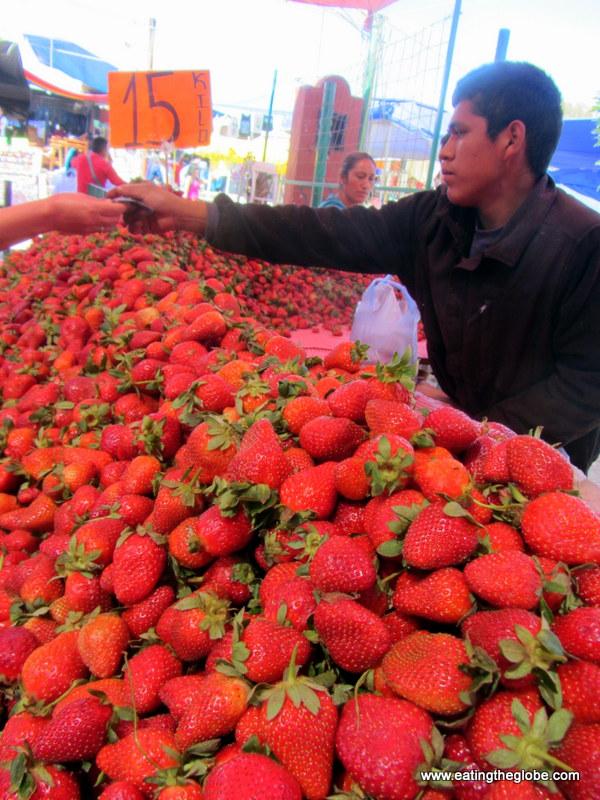"Strawberries at Tuesday Market/""El Tianguis"""