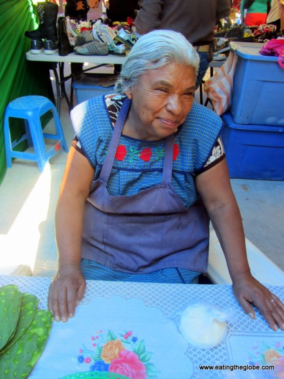 Happy woman at Tuesday Market
