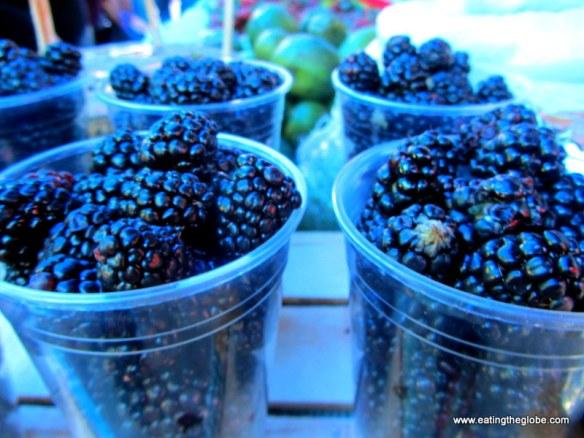 "blackberries at Tuesday Market/""El Tianguis"""