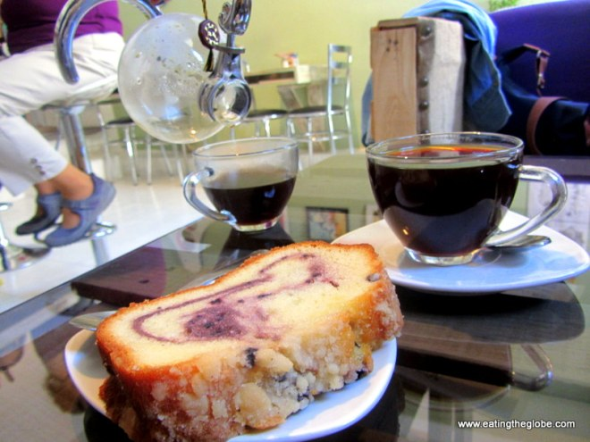 Coffee cake and siphon coffee best coffee in San Miguel de Allende