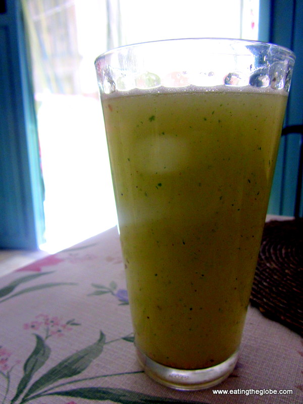 Guayabana Parsley juice Vegetarian restaurant San Miguel de Allende