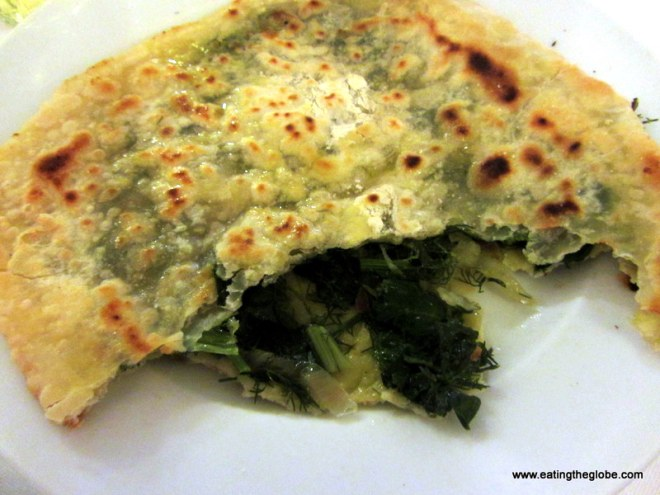 wild fennel pie Greek food at portes restaurant in Chania