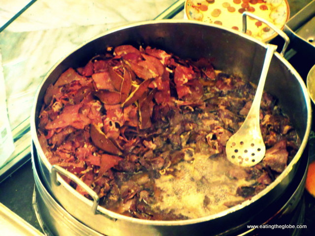 Bubbling beef spleen