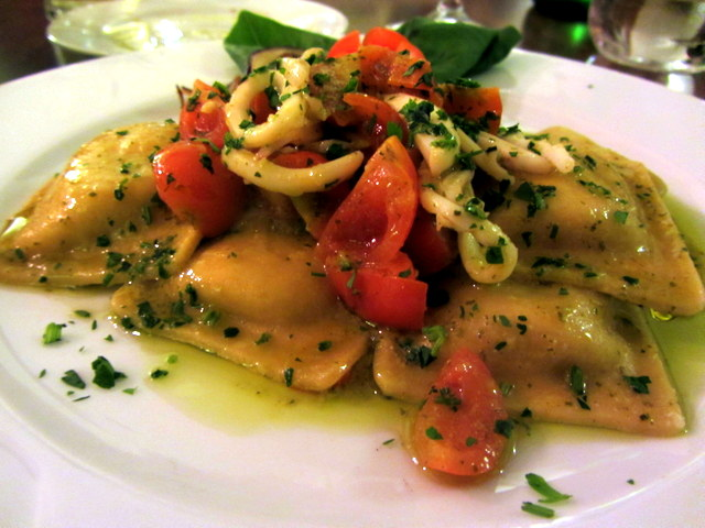 Artichoke Ravioli With Calimari From Locanda del Marinaio