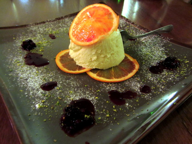 Arancia (orange) parfait from Locanda del Marinaio in Cefalu, Sicily