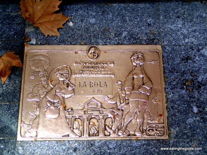 Madrid food plaque