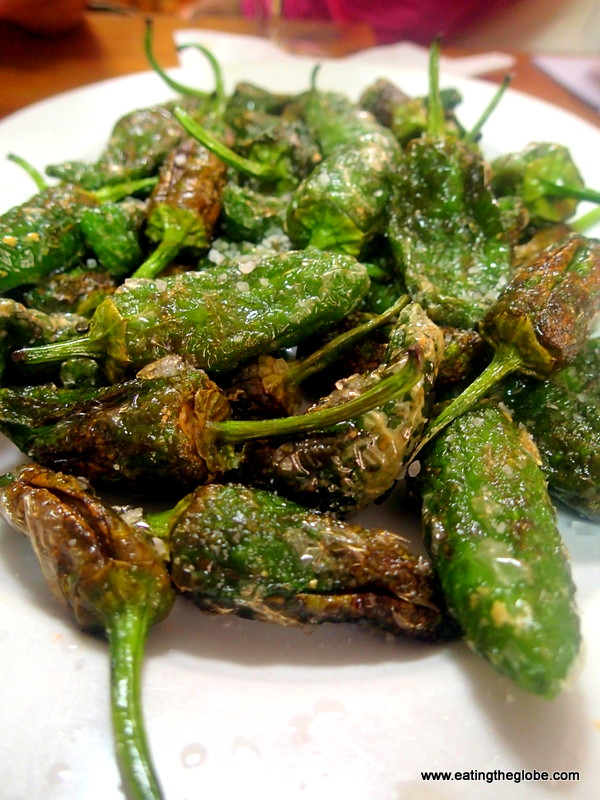 Padrón peppers food in Spain