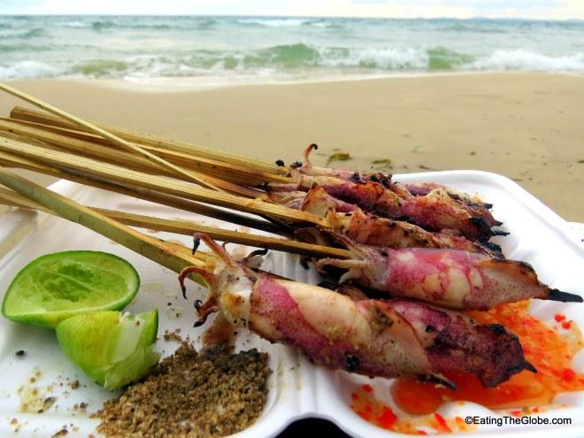 beach food Otres Beach, Cambodia