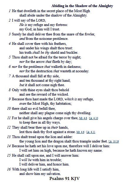 PSALMS 91 KJV