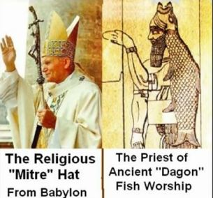 PopeWearingDagonMitreWithBabylonianComparison
