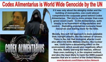 UN Depopulation Agenda Codex Alimentarus