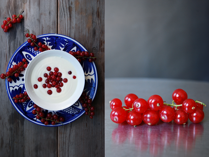 Red Currants with Cardamom Yoghurt