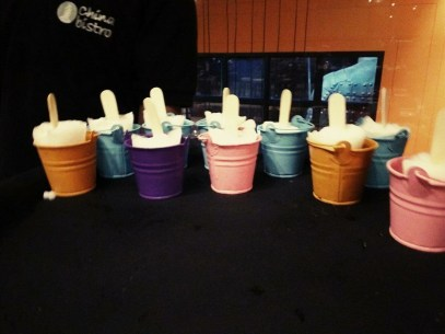 Mini Buckets with Sorbet Popsicle